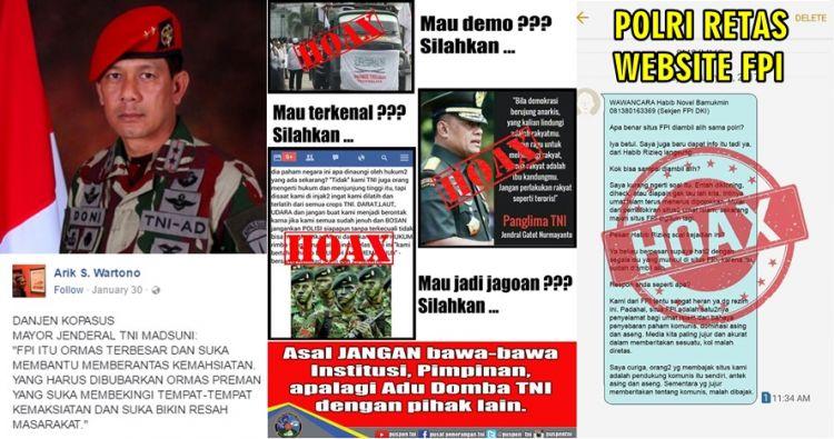 10 Hoax provokasi ini catut Polri & TNI, kudu bijak sebar broadcast