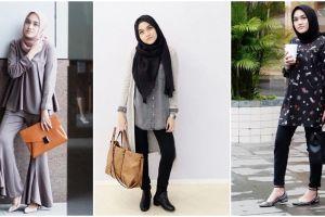 10 Inspirasi fashion simpel ala Chacha Thaib, hijaber bisa tiru nih