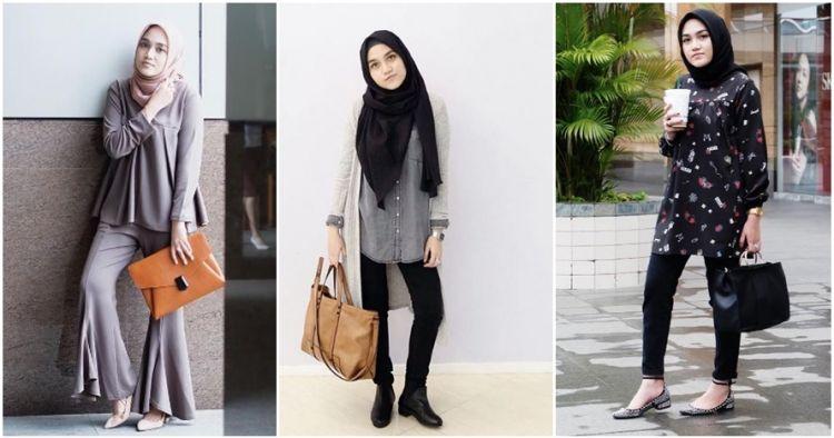 10 Inspirasi Fashion Simpel Ala Chacha Thaib Hijaber Bisa