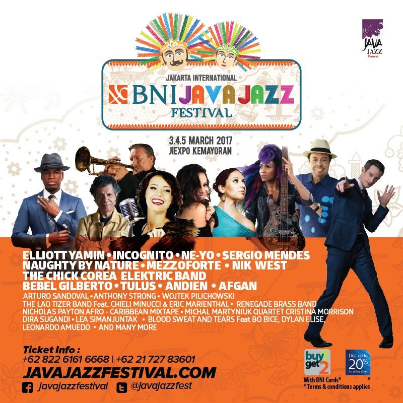 Wah, Java Jazz 2017 bakal kembali digelar, siap-siap terhanyut deh