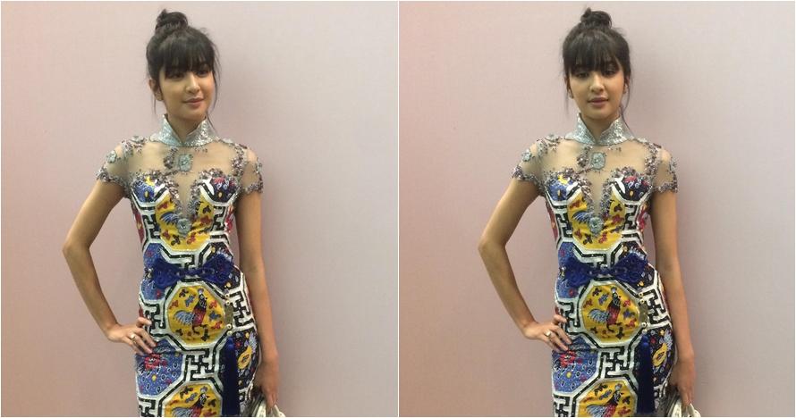 Mikha Tambayong tampil anggun dengan baju rancangan Ivan Gunawan