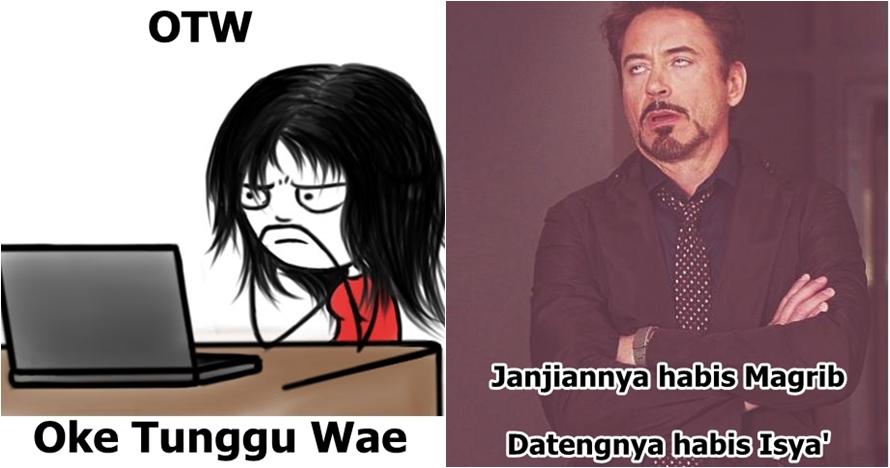 10 Meme 'kamus waktu di Indonesia' ini bikin korban PHP cengar-cengir