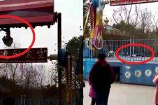 Tragis, gadis ini terlempar jatuh saat bermain wahana tornado