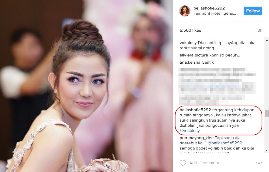 Dituding netizen perebut suami orang, ini komentar pedas Bella Shofie