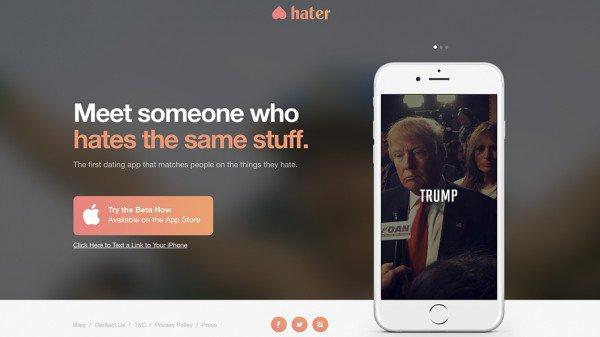 aplikasi kencan ini bisa temukan jodoh berdasarkan hal yang dibenci © 2017 odditycentral