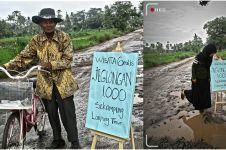 Saking parahnya, jalan rusak ini dijadikan wisata 'Jeglongan Sewu'