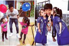 12 Potret bintang Arema Ahmad Bustomi bersama keluarga, ngemong banget