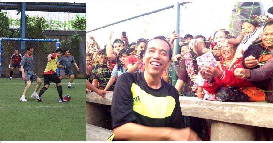 15 Potret keseruan Presiden Jokowi saat berolahraga, nyantai abis