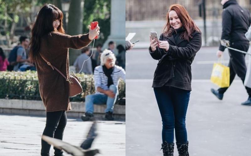Fotografer ini potret orang selfie jadi karya seni baru