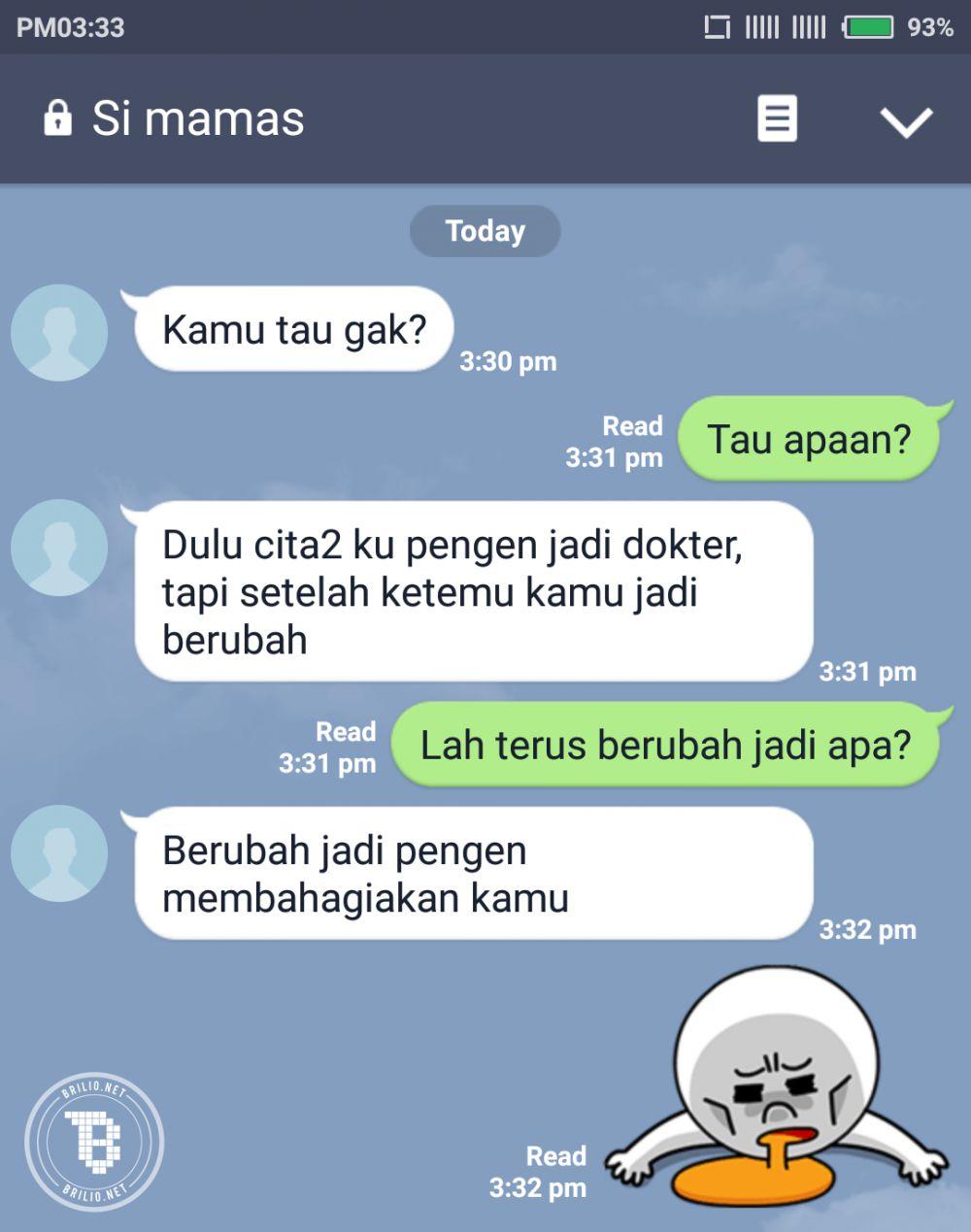 Kumpulan Gambar Chat Lucu Gagal Gombal