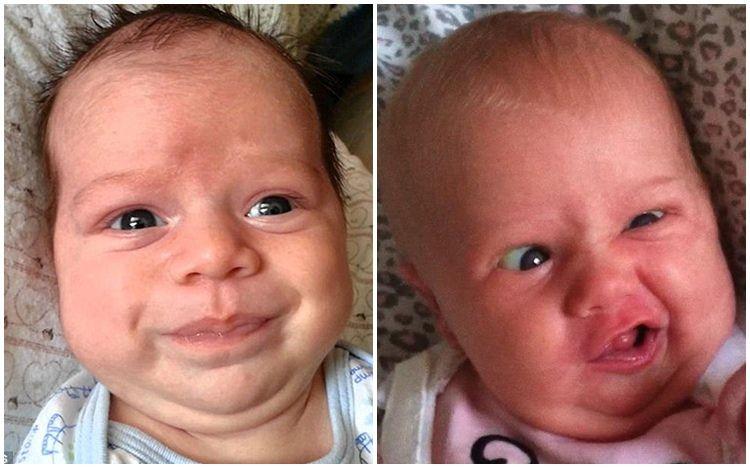 15 Ekspresi bayi mengejan ini bikin makin gemes melihatnya, kocak abis