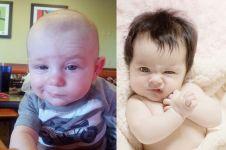 15 Bayi ini gedenya mau jadi apa sih? Mukanya sudah tengil sejak kecil
