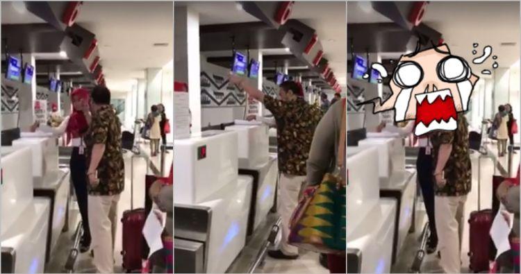 Heboh lelaki ngamuk karena terlambat check-in di bandara, duh