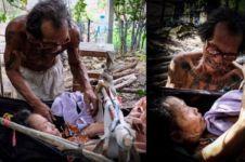 Kisah haru suami rela kelaparan bertahun-tahun demi rawat sang istri