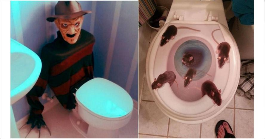13 Toilet dengan desain paling menyeramkan, bikin jantungen nih
