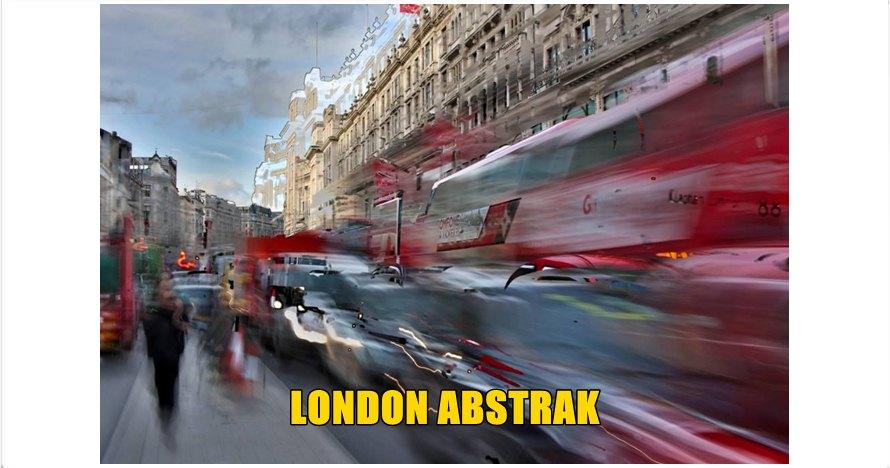 15 Foto Kota London versi abstrak, keren atau aneh ya jadinya?
