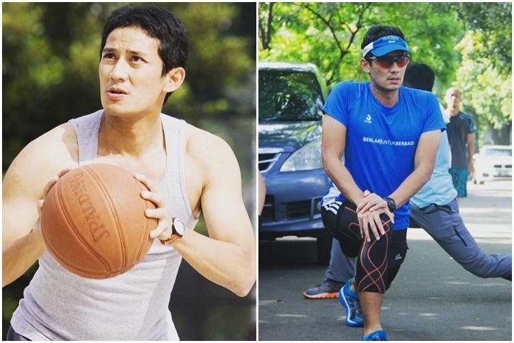 10 Foto bukti Sandiaga Uno olahragawan banget, ladies awas salah fokus