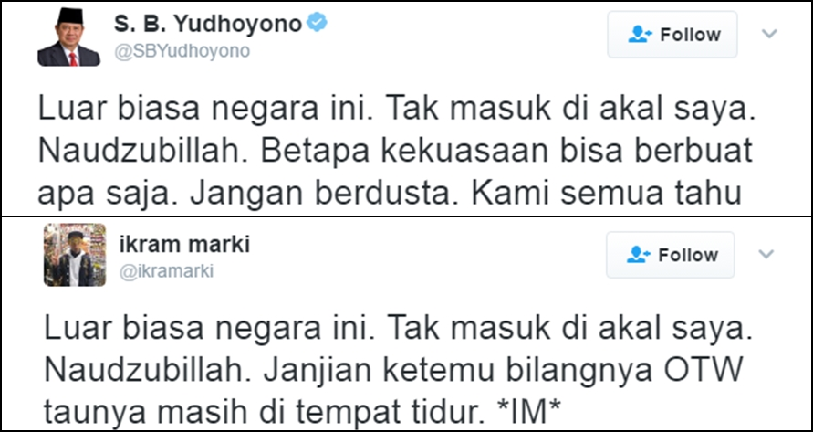 14 Pelesetan lucu netizen tanggapi kicauan SBY 'Luar biasa negara ini'