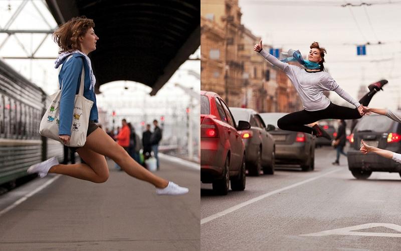 12 Foto perpaduan balet dengan kegiatan sehari-hari ini bikin takjub
