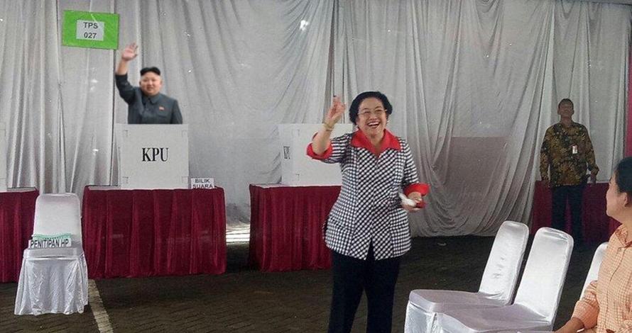 Kim Jong-un ternyata 'ikut' Pilkada DKI lho, 5 foto ini buktinya