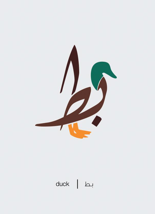 20 Desain Huruf Hijaiyah berbentuk gambar hewan ini ...