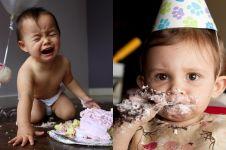 15 Ekspresi bayi pertama kali makan kue ini bikin gemes