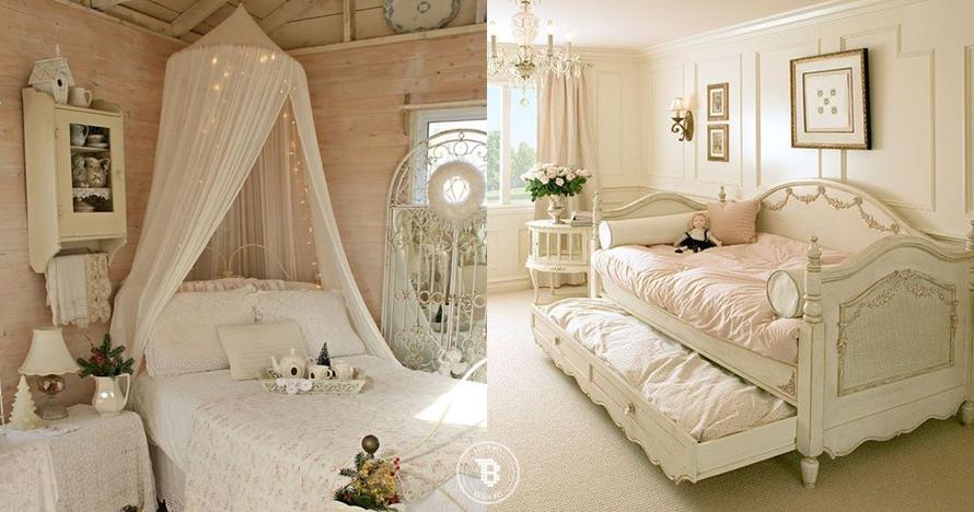 10 Tempat tidur tema Shabby Chic ini bikin betah lama-lama di kamar