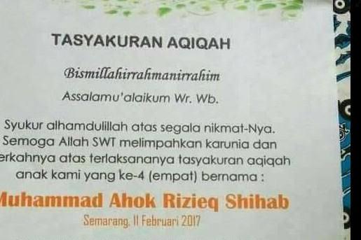 Bayi asal Semarang diberi nama Ahok & Rizieq Shihab, langsung viral