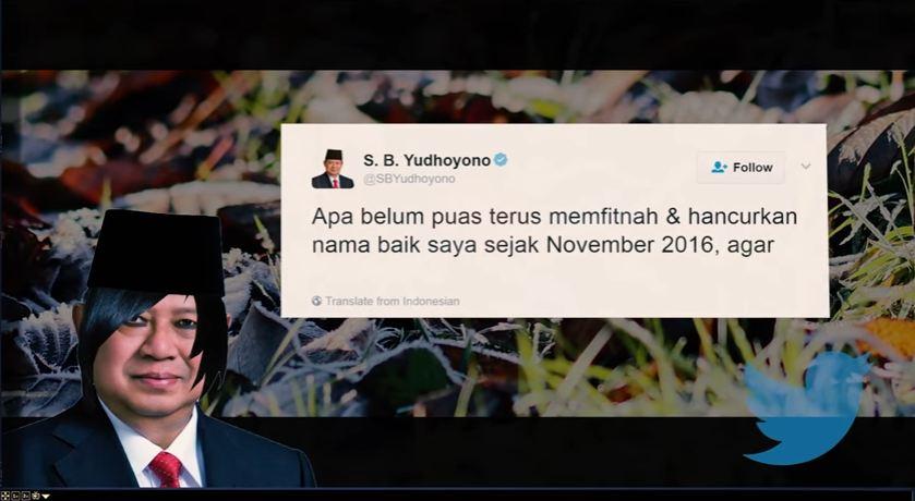 Kumpulan kicauan SBY dijadikan lagu emo, hasilnya unik banget