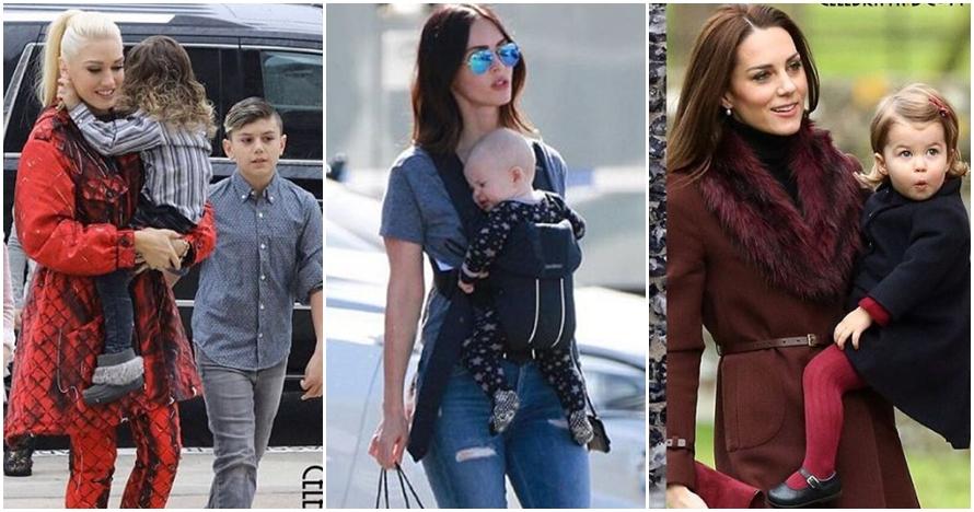 11 Foto artis Hollywood saat gendong anak, tetap hot & memesona