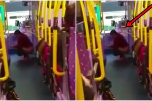 Jorok, wanita ini buang air besar di dalam bus berpenumpang