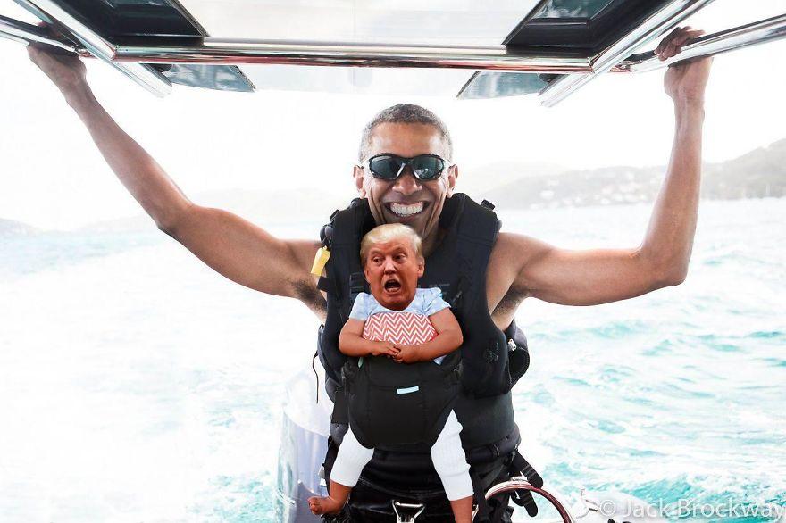 15 Foto editan 'Donald Trump mini', bikin tepuk jidat sambil ketawa