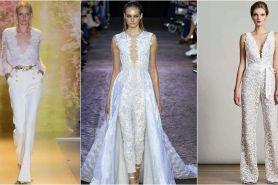 10 Gaun pernikahan gaya jumpsuit untuk pengantin modern, chic banget