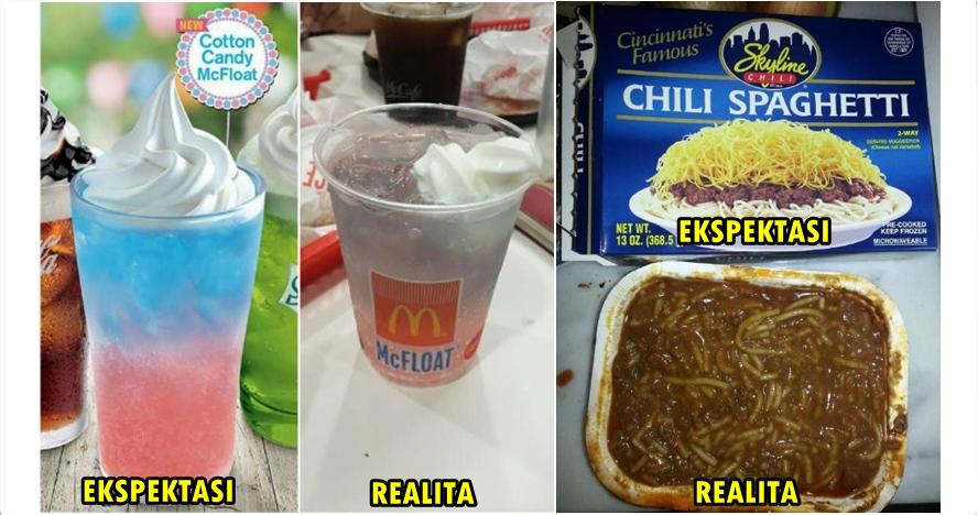 15 Ekspektasi vs realita makanan aslinya bikin nyesek pelanggan