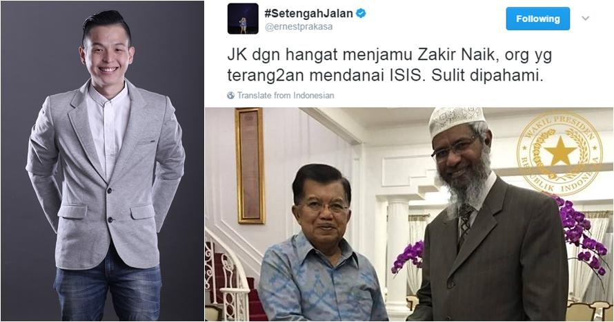 Kicauan Ernest Prakasa soal Zakir Naik ini tuai hujatan netizen, duh!