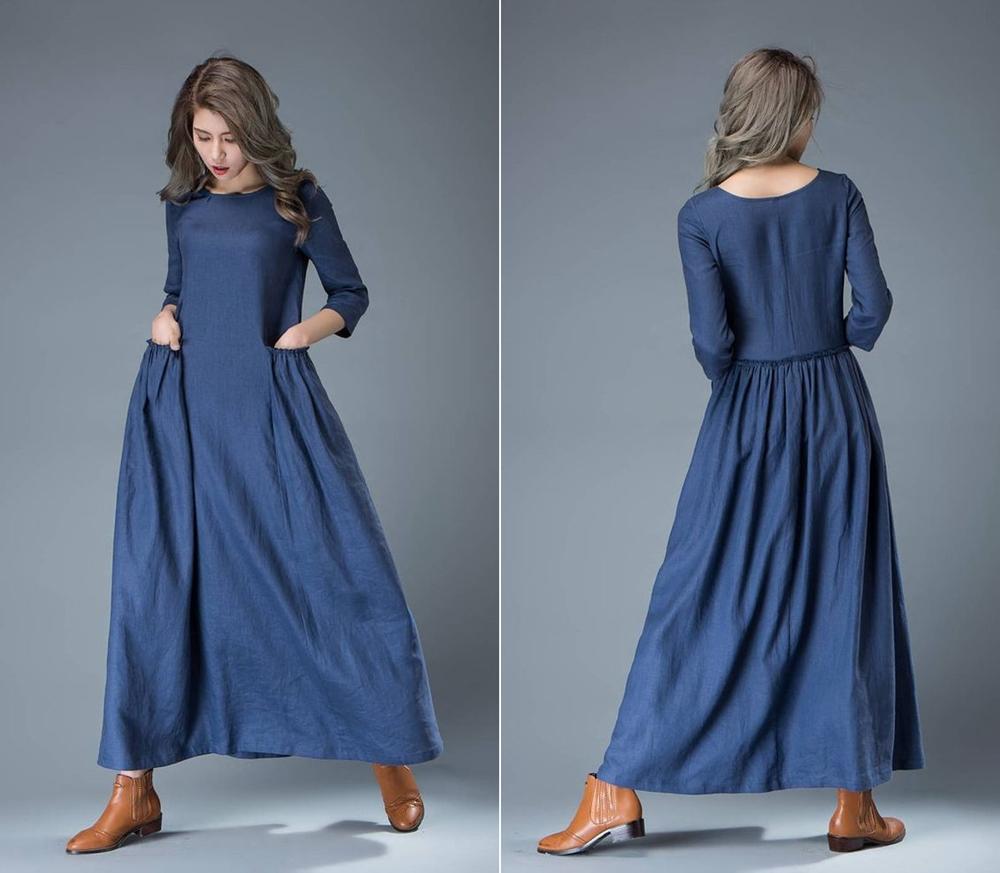12 Dress Bahan Linen Ini Layak Kamu Coba Cocok Buat Yang Pakai H