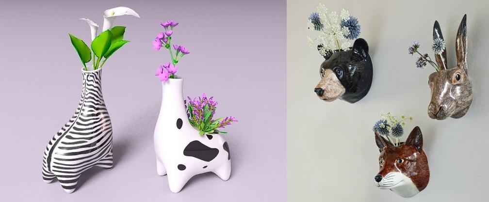 14 Vas  cantik berbentuk binatang ini bikin rajin menghias rumah