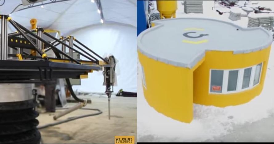 Rumah ini dibangun sehari hanya dengan mesin printer 3D, kece abis!