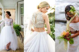 Baju pengantin juga ada model two piece, 15 desain ini bisa kamu pilih