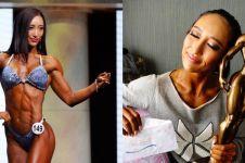 10 Foto Mou Cong, binaragawati cantik yang sudah punya prestasi dunia