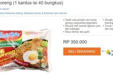 Seller di Lazada jual Indomie harga Rp 350 ribu, review-nya kocak abis