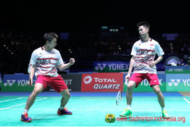 Gemuruh suporter Indonesia antar Kevin/Marcus raih juara All England