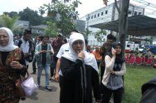 Kepada Mensos Khofifah Hasyim Muzadi berpesan islam sebagai penyejuk