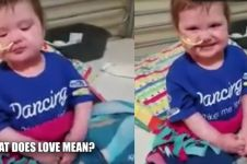 Video balita ditanyai 'cinta itu apa', jawabannya bikin terharu
