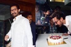10 Potret meriahnya ulang tahun aktor kawakan Aamir Khan, selamat!