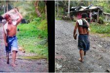 Berkaki satu, pria ini kerja pikul 50 kg berjalan lintasi pegunungan