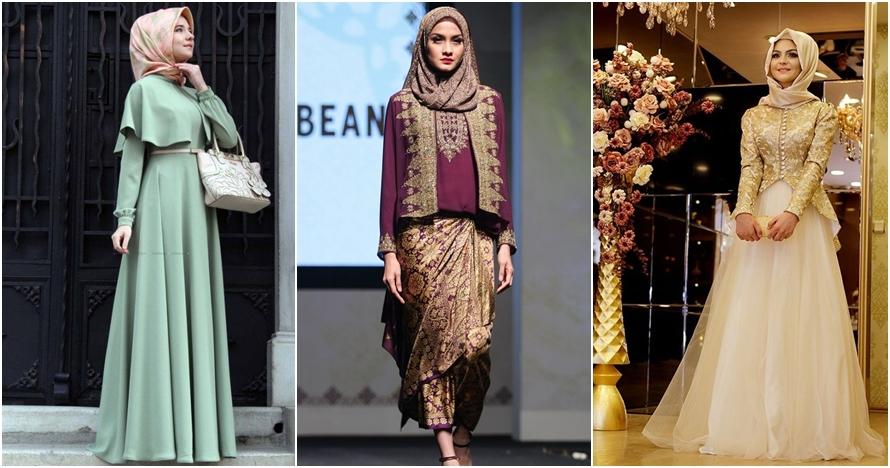 12 Inspirasi model gaun kondangan bagi kamu yang hijaber, elegan deh