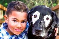 Dijauhi teman sebaya karena vitiligo, bocah ini berkawan dengan anjing