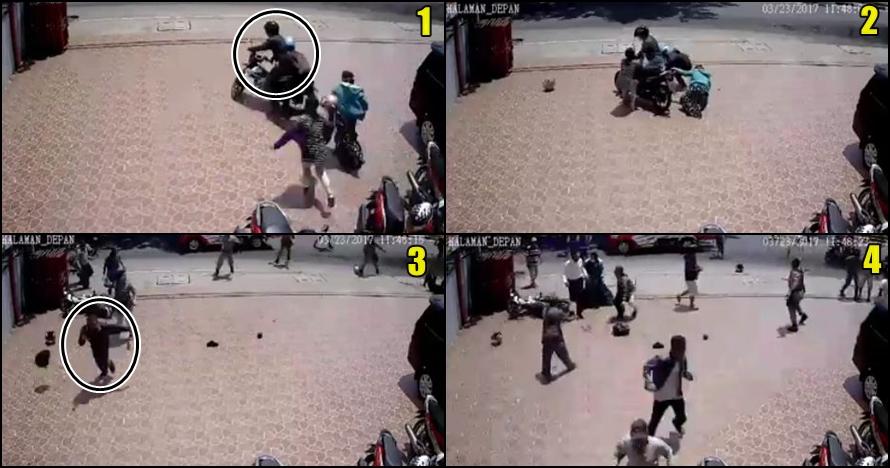 Video heroik emak-emak gagalkan aksi penjambretan di Banjarmasin