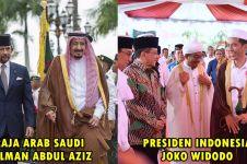 Presiden Jokowi kenakan jubah persis Raja Salman saat peresmian ini